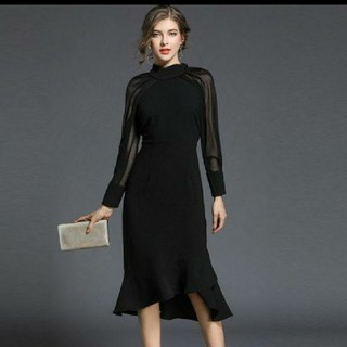 ブラック フォーマルワンピース ドレス