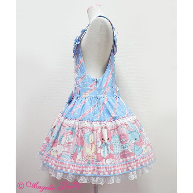 Angelic Pretty(アンジェリックプリティー)の値下げAngelic pretty melody toys サロペット レディースのワンピース(ひざ丈ワンピース)の商品写真