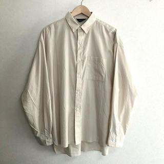 UNUSED - 19AW unused ウール混オーバーサイズシャツ