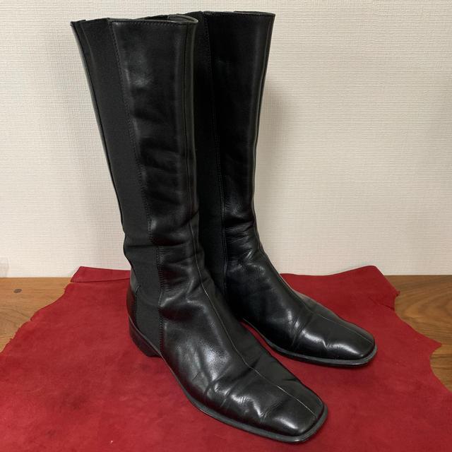 PRADA(プラダ)のPRADA  プラダ サイドゴアロングブーツ ブラック スムースレザー レディースの靴/シューズ(ブーツ)の商品写真