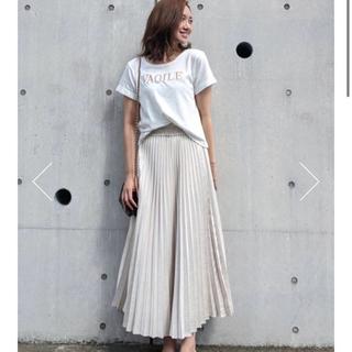 rienda - rienda Shiny Pleats J/W Long SK