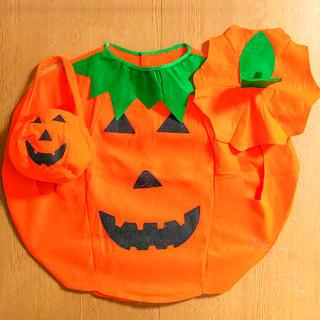 ハロウィン 子供用 パンプキン 衣装 帽子+バッグ セット