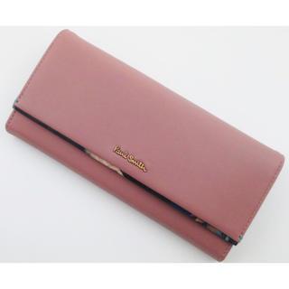 ポールスミス(Paul Smith)の贈り物に☆新品/箱付 ポールスミス 花柄デザインかぶせ 長財布 ピンク系 (財布)