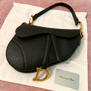 Christian Dior - ★Christiandior ディオール Saddle サドルバッグ 黒