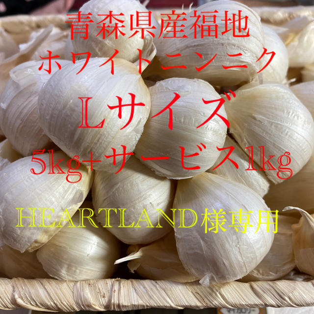 HEARTLAND様専用 青森県産福地ホワイトニンニク 5kg+サービス1kg 食品/飲料/酒の食品(野菜)の商品写真