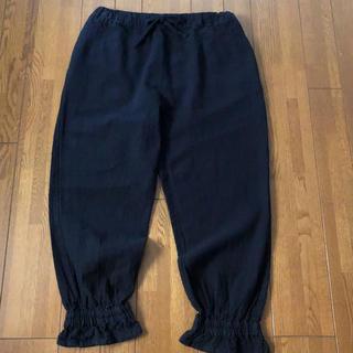 SM2 - サマンサモスモス 裾絞りパンツ 麻綿素材 リネン混 ブラック色 人気完売商品