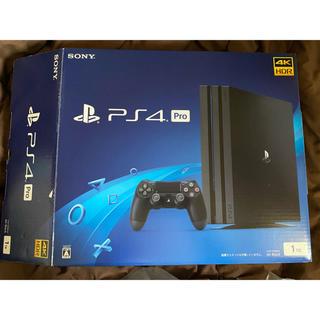 プレイステーション4(PlayStation4)のps4pro ブラック1TB(家庭用ゲーム機本体)