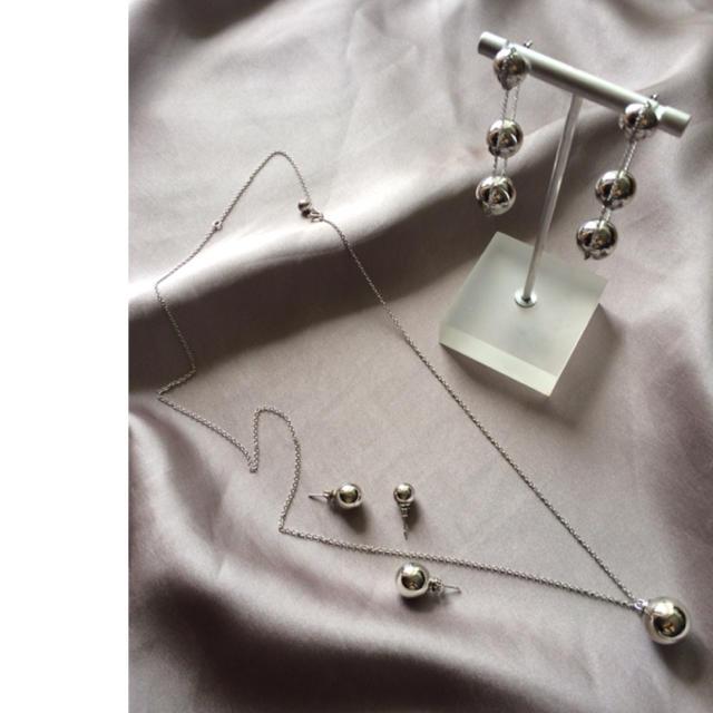 #417 ハンドメイド ネックレス ボールペンダント【金or銀】サイズオーダー  ハンドメイドのアクセサリー(ネックレス)の商品写真