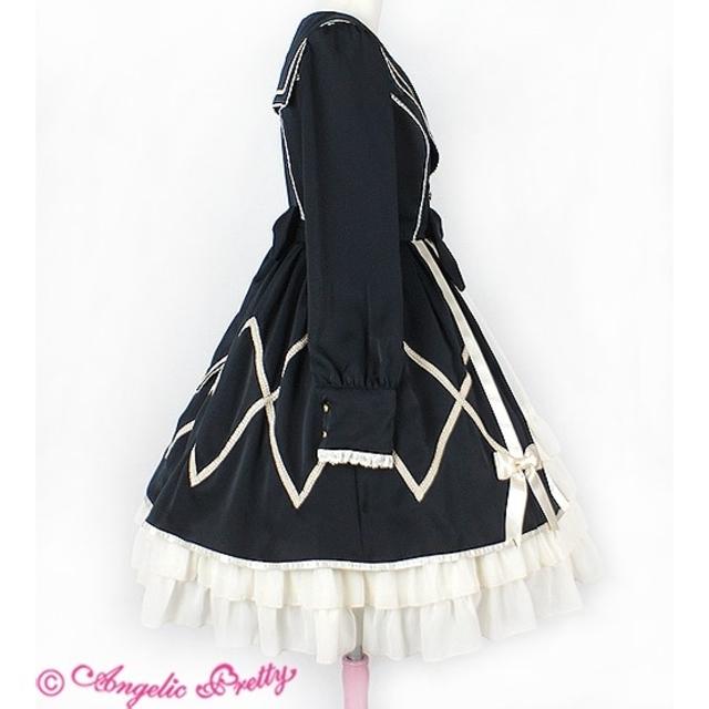 Angelic Pretty(アンジェリックプリティー)のprivate school ワンピース 黒 制服 ゴスロリ ロリィタ ロリータ レディースのワンピース(ひざ丈ワンピース)の商品写真