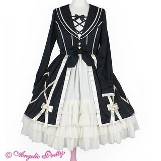 Angelic Pretty - private school ワンピース 黒 制服 ゴスロリ ロリィタ ロリータ
