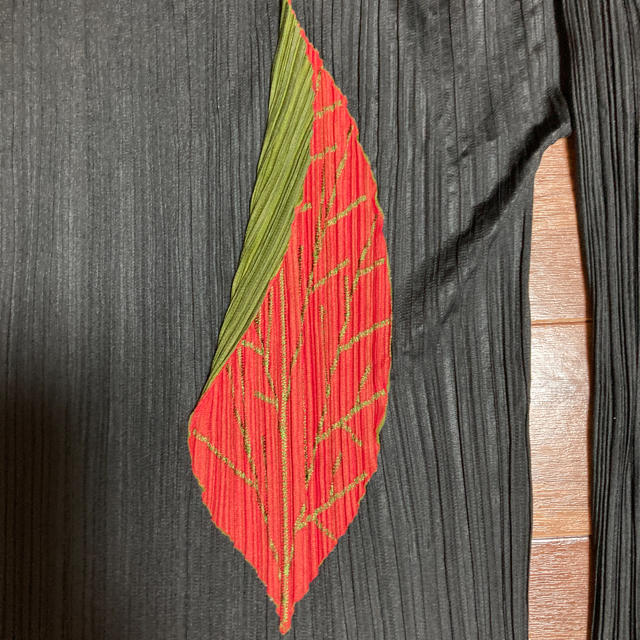PLEATS PLEASE ISSEY MIYAKE(プリーツプリーズイッセイミヤケ)のお値下げ!イッセイミヤケ プリーツプリーズ 葉っぱカットソー レディースのトップス(カットソー(長袖/七分))の商品写真