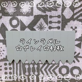 園芸用 ラインラベル【グレイ】小 40枚 多肉に最適♪(その他)