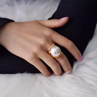 エディットフォールル(EDIT.FOR LULU)のbig  pearl  ring(リング(指輪))
