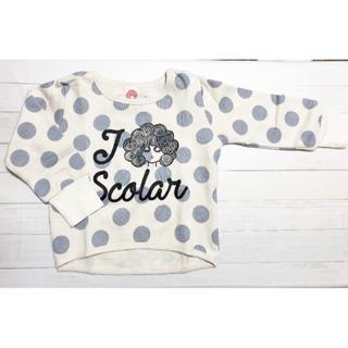 スカラー(ScoLar)の新品!ScoLar110cm【スカラーちゃん水玉トレーナー》(Tシャツ/カットソー)