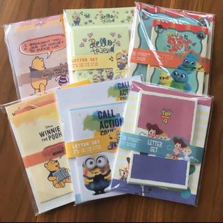 Disney - ミニオン トイストーリー ぷーさん  レターセット 6点セット
