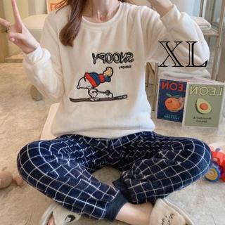 ふわもこパジャマ スヌーピーチェック XL(パジャマ)