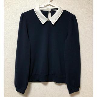 ⭐️ほぼ未使用・美品⭐️長袖 トップス レディース 紺色