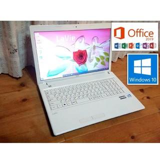 美品!バッテリー新品!最新Office搭載モデル!NEC LE150/L2