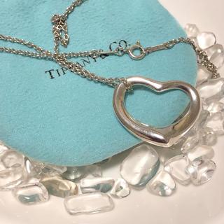 Tiffany & Co. - ティファニー オープンハート ネックレス Lサイズ