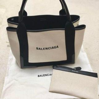 Balenciaga - BALENCIAGAバレンシアガ ネイビーカバ S キャンバス トートバッグ