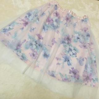 シマムラ(しまむら)のしまむら♡オーガンジーチュール 花柄スカート(ひざ丈スカート)