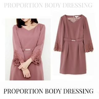 PROPORTION BODY DRESSING - PROPORTION BODY DRESSINGスカラレースコクーンワンピー