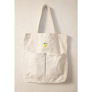 ムジルシリョウヒン(MUJI (無印良品))の無印良品 インド綿縦型マイトートバッグ[生成/刺繍入](トートバッグ)