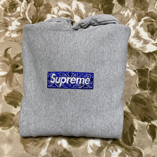 Supreme - SUPREME BANDANA BOX LOGO HOODED パーカー L