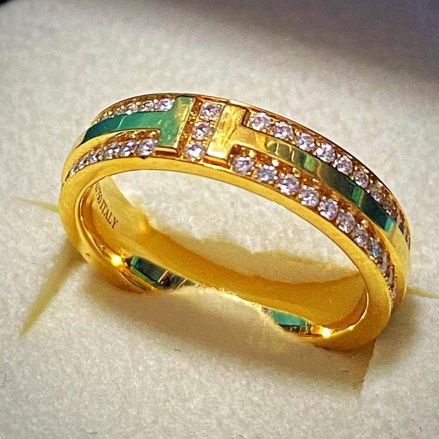 Tiffany & Co.(ティファニー)のお値下げTiffany Tツーナローリング 12号 レディースのアクセサリー(リング(指輪))の商品写真
