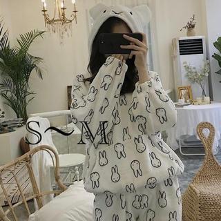 ふわもこパジャマ ミッフィーフード付き M(パジャマ)