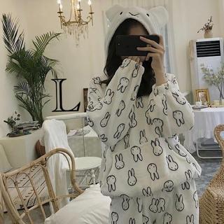 ふわもこパジャマ ミッフィーフード付き L
