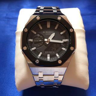 ジーショック(G-SHOCK)の最新 G-SHOCK 「第3世代」GA2100-1AJF シルバー×ブラック(腕時計(アナログ))