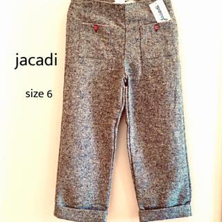ジャカディ(Jacadi)のjacadi  size 6 / 116㎝  ツイードのグレーのパンツ(パンツ/スパッツ)