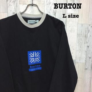バートン(BURTON)の古着 BURTON バートン スウェット ロゴ ブラック Lサイズ(パーカー)