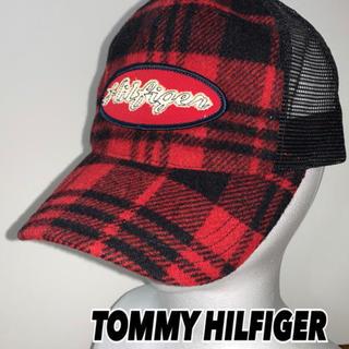 トミーヒルフィガー(TOMMY HILFIGER)の【TOMMY HILFIGER】トミーヒルフィガー 赤×黒チェック キャップM(キャップ)