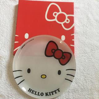 ハローキティ(ハローキティ)の新品非売品  HELLO  KITTYお皿(ノベルティグッズ)