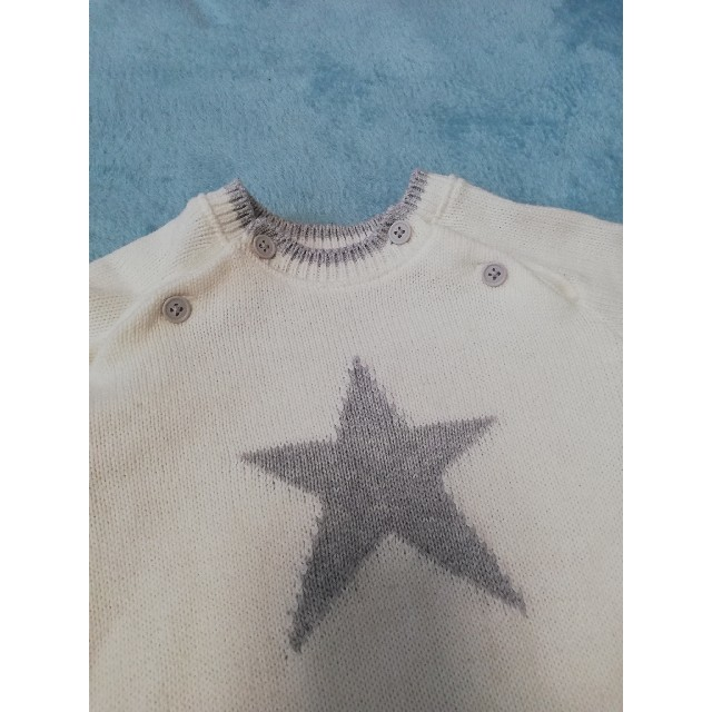 familiar(ファミリア)の赤ちゃんの城 ニットロンパース 日本製 キッズ/ベビー/マタニティのベビー服(~85cm)(ロンパース)の商品写真