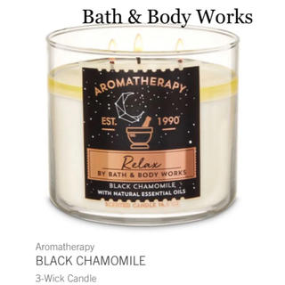 バスアンドボディーワークス(Bath & Body Works)のバスアンドボディワークス 新品3芯アロマテラピーキャンドル(キャンドル)