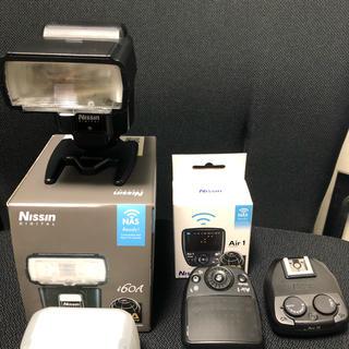 ソニー(SONY)のニッシン i60Aソニー用とair1+airR中古品(ストロボ/照明)