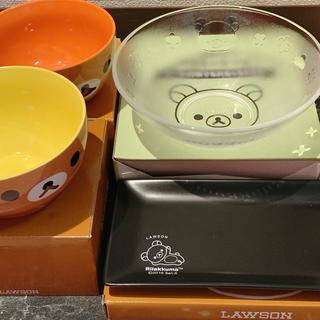 サンエックス(サンエックス)の新品 リラックマ おかず皿 お皿 ガラスのうつわ ボウル ローソン(食器)