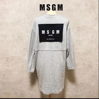 MSGM - MSGM エムエスジイエム スウェット ワンピース ロゴ おしゃれ レア