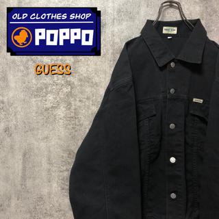 GUESS - ゲスジーンズGUESS☆USA製ロゴタグブラックワークジャケット 90s