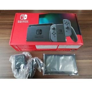 ニンテンドースイッチ(Nintendo Switch)の【未使用】新型任天堂スイッチ 本体のみ (箱・ACアダプターつき)(家庭用ゲーム機本体)
