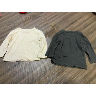 ムジルシリョウヒン(MUJI (無印良品))の無印良品 キッズ 長袖 カットソー サイズ80センチ2枚 (シャツ/カットソー)
