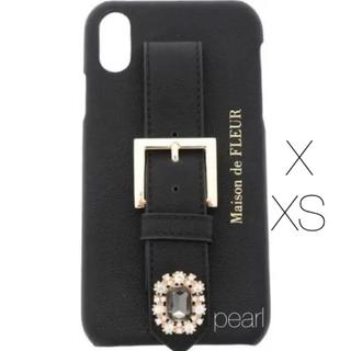 メゾンドフルール(Maison de FLEUR)の新品未使用 Maison de Fleur iPhoneX XS 皮 ケース(iPhoneケース)