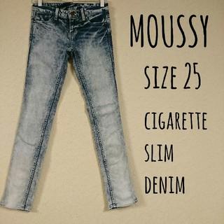 マウジー(moussy)のMOUSSY cigarette slim denim 25(デニム/ジーンズ)