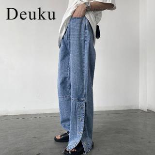 ハレ(HARE)のDeuku デニム SIDE SLIT WIDE DENIM DES298 韓国(デニム/ジーンズ)