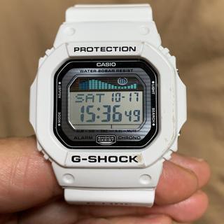 ジーショック(G-SHOCK)のCASIO G-shock   ホワイト 稼働品 中古品(腕時計(デジタル))