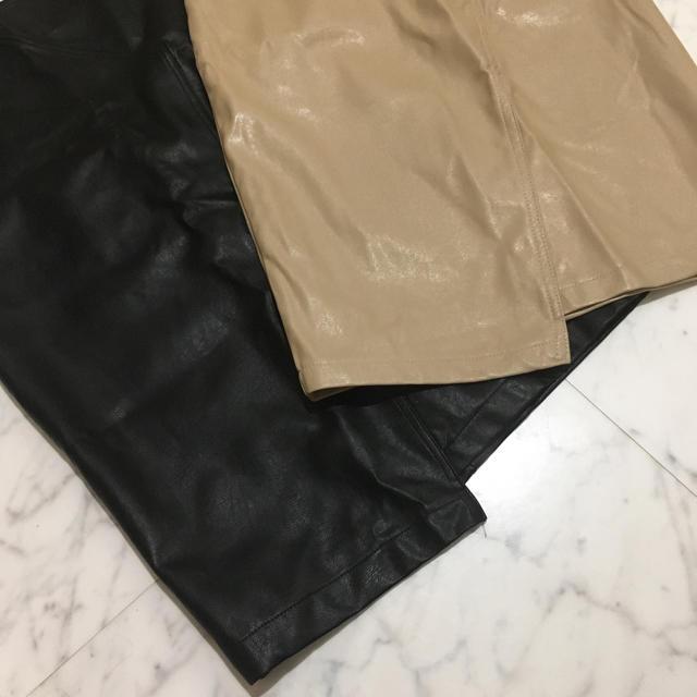 eimy istoire(エイミーイストワール)のレザー膝丈スカート レディースのスカート(ひざ丈スカート)の商品写真
