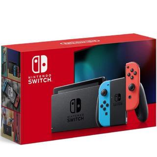 ニンテンドースイッチ(Nintendo Switch)のswitch 本体 ネオンブルーレッド 新品未開封(家庭用ゲーム機本体)